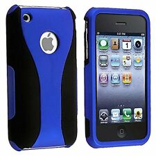 3-Piece Cup Shape Snap-On Hard Case Cover For Apple iPhone 3 3G 3GS NEW