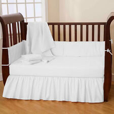 Baby Crib Bedding Set Fitted Skirt Bumper Comforter- 4PC Set