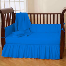Baby Crib Bedding Set Fitted Comforter Bumper - 3PC Crib Bedding Set
