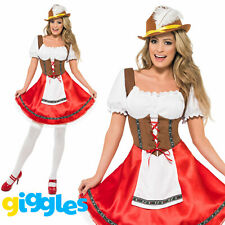 Dirndl Bavarian Wench Costume German Oktoberfest Beer Maid Fancy Dress Outfit