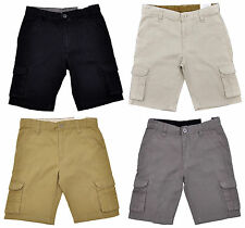 NEW BOYS CARGO COMBAT SHORTS WITH BUTTONS, ZIP FASTENING VELCRO-AGES 4-7 YEARS