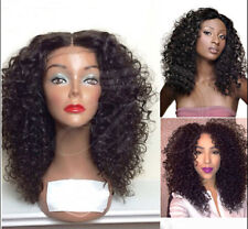 """Soft Malaysia Curly indian remy human hair lace full/front wigs 12""""-24"""" Pretty"""