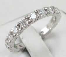 Jewelry Women's White Sapphire Wedding Ring 10KT White Gold Filled Size:7/8/9