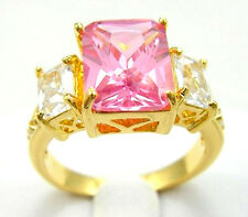 Nice Jewelry Fashion Women's Ring 10KT Yellow Gold Filled Pink Ruby Size:7/8/9