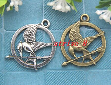 5/20/100pcs Tibet Silver exquisite Birds Jewelry Finding Charms Pendant 30x25mm