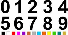 1x Set of Numbers 0 to 9 (4 inches tall) Vinyl Bumper Stickers Decals #a987