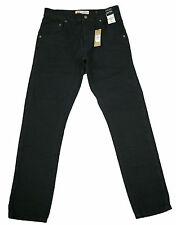 MENS NEW River Island CARROT SKINNY FIT TAPERED JEANS sz 26,28,30,32,34,36 BLACK