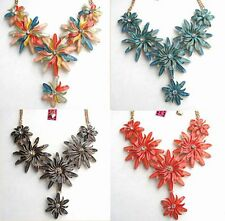 Betsey Johnson crystal Colorful sunflowers bib Necklace 4 color,#145L
