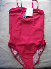Nike Girl's Swimsuit Swimming Costume Two Tone Pink Size Girls L 30, XL 32 New