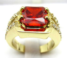 Size:10 11 Generous Jewelry Men's Fashion 10KT Yellow Gold Filled Ruby Ring