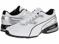 Men's Shoes PUMA Tazon 6 Sleek Running Sneaker 188423-01 White-Silver *New*