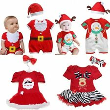 Baby Boy Girl Christmas Santa Claus Deer Party Costume Dress Outfit Set 3M-Age 3