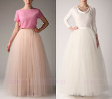 Ivory/Champagne Maxi Tulle Tutu Skirts/Long Wedding Bridesmaid Formal Skkirts