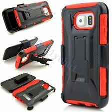 FOR SAMSUNG GALAXY Note 5/S6 Edge+ Shockproof HEAVY DUTY CASE COVER+BELT CLIP