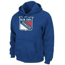 NWT NEW YORK RANGERS MENS MAJESTIC TEK PATCH ROYAL BLUE PULLOVER HOODIE