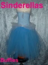 Disney Princess Cinderella Inspired Tutu Dress 1-10 years Blue & White Tutu