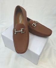 MEN GIOVANNI DRESS SHOES Loafer Casual Italian Style Slip-On Solid Camel Brown
