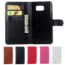 PU Leather Flip Wallet Stand Protective Case Cover for Samsung Galaxy Note 5