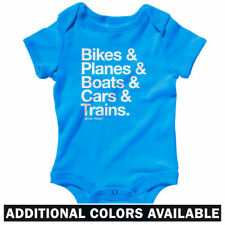 How I Travel One Piece - Plane Train Bike Baby Infant Creeper Romper - NB to 24M