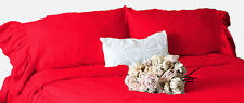 Dust Ruffle Pillow Shams 2pc 100% Egyptian cotton ALL Size & Color