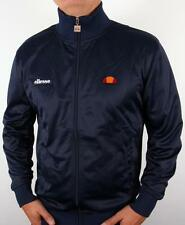 Ellesse Heritage - Massico Twin Badge Track Top in Navy Blue - retro 80s casual