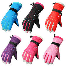 Fashion Womens Waterproof Windproof Skiing Snowboarding Cycling Thermal Gloves