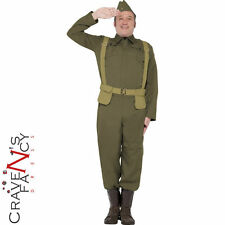 Adult WW2 Home Guard Private Costume Dads Army Uniform Mens Fancy Dress Outfit
