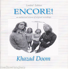 KHAZAD DOOM Encore! CD RARE OOP Chicago 60s 70s Psych Prog Rock Retrospective