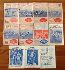 Wakefield Trinity Rugby League Programmes 1958 - 1969