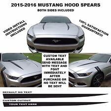 2015 & UP FORD MUSTANG COWL/HOOD SPEARS STRIPES VINYL GRAPHICS 5.0L GT COYOTE