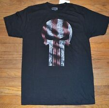 Punisher Logo Style Adult Mens Tee Officially Licensed Marvel T-Shirt USA
