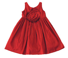 NEW JANIE AND JACK Pretty In Plaid Red Rose Silk Holiday Dress 18 24 m 2T 3 4 5
