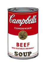 Campbell's Soup I: Beef, c.1968 by Andy Warhol, Pop Art Wall art