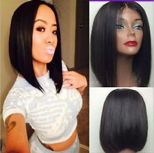 """12"""" 100% Indian remy human hair BOB Straight full lace wig/lace front wig 4color"""