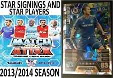 MATCH ATTAX 2013 2014 STAR SIGNINGS STAR PLAYERS CARDS TOPPS 13/14 2013/2014