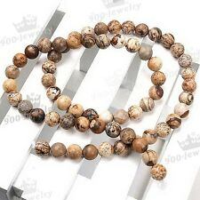 2-8mm Natural Picture Jasper Gemstone Loose Bead For Charm Jewelry Making DIY