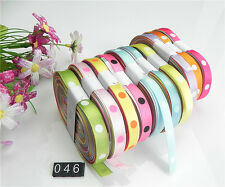 """NEW 10/20 yards 3/8"""" mix10 Style sewing satin grosgrain ribbon lot wholesale A46"""