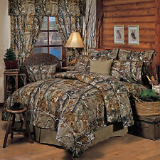 Realtree All Purpose Camo Comforter Set- Bed in a Bag with Sheets &*Free Valance