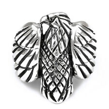 Sterling Silver Men's Oxidized Eagle Ring