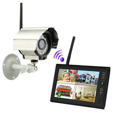 4CH 2.4G 7 Wireless outdoor Waterproof cameras home security system Baby Monitor