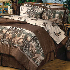 Whitetail Deer Bedding Comforter Set ~ 4 Sizes with sheets~Wildlife Bed Set