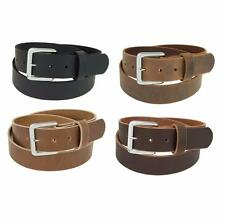 "Genuine Buffalo Leather Belt_1 1/4"" wide_Amish Handmade_Chrome Finish Buckle_132"