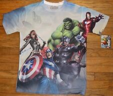 2 Sided Graphic T Shirt MARVEL Comics Avengers Hulk Captain America Ironman Thor