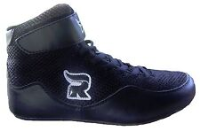 Rasslin' Youth Kids MMA Wrestling Shoes (Black) NEW