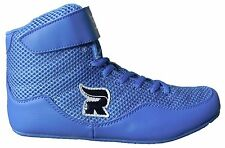 Rasslin' Youth Kids Boys/Girls MMA Wrestling Shoes (Blue) NEW