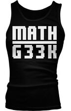 Math Geek Nerd Humor Funny Mathlete Mathematics Gifted Boy Beater Tank Top
