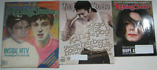 Rolling Stone Magazine Lot/3 Michael Jackson Paul McCartney