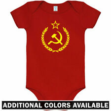USSR Crest One Piece - Soviet Union CCCP Star Baby Infant Creeper Romper NB-24M