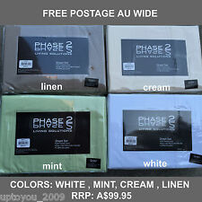 PHASE-2 250 THREAD COUNT POLY COTTON SHEET SET- QUEEN BED -4 COLOURS -