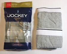 Men Jockey 2-Pack Pouch Stretch H-Fly Full Rise Boxer Briefs Underwear - Gray
